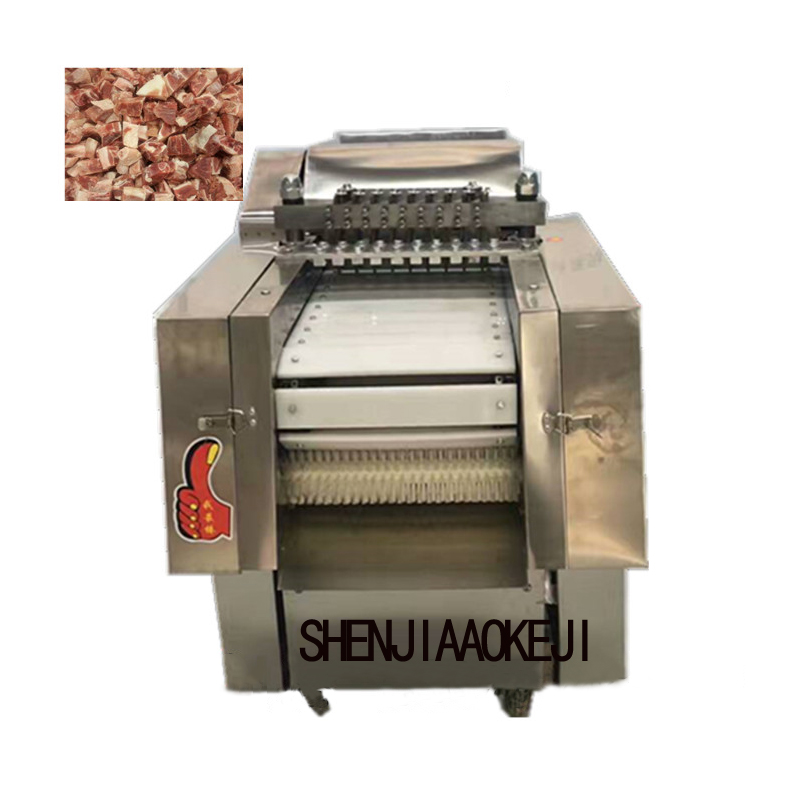 500kg/h Commercial New Chicken Nugget Cutting Machine Electric Stainless Steel Cutting Chicken Machine Processing Tool 220V/380V