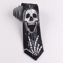 Halloween skulls ties unisex white bone palm dark metal blood 7cm neckties corpse breaking dance hip pop neck gift box