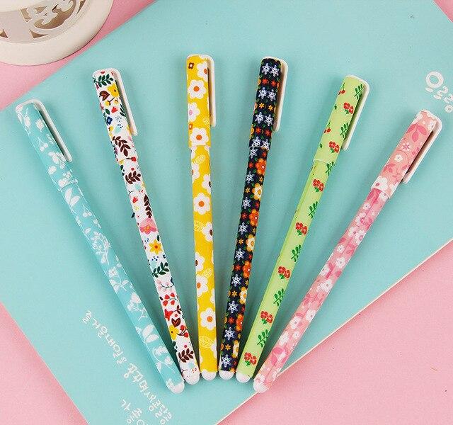 6 Pcs / Set Color Gel Pen Starry Pattern Cute cat Hero Roller Ball Pens Stationery Caneta Escolar Office School Supplies 1