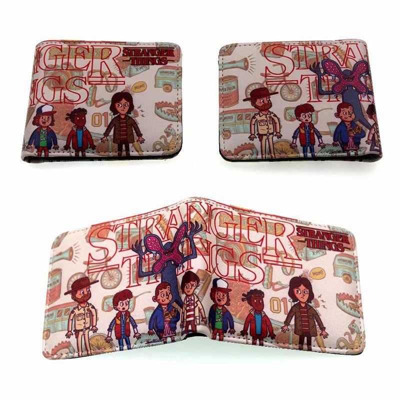 Горячие фильмы странные вещи кожаный кошелек модные дизайнерские кошельки Визитница в повседневном стиле для мужчин и женщин кошелек с карманом для монет Carteras