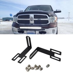 Hidden Bumper Grille Mounting Brackets for 2003-2019 Dodge Ram 2500 3500 Fit 22inches 32inches 42inches Straight LED Light Bar