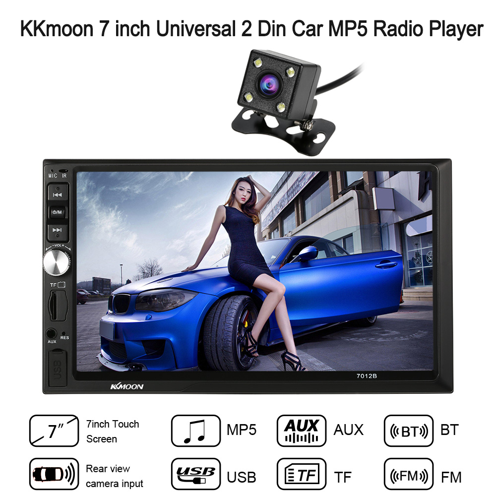Autoradio Cassette Recorder Automagnitola 2 Din Car MP5 Radio Player Multimedia Entertainment Rear view Camera Charge Aux