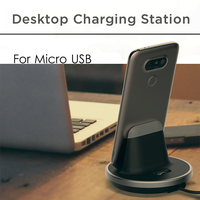 Verstelbare micro usb sync charge dock station desktop charger stand hold usb desktop charger cradle voor xiaomi samsung galaxy s7