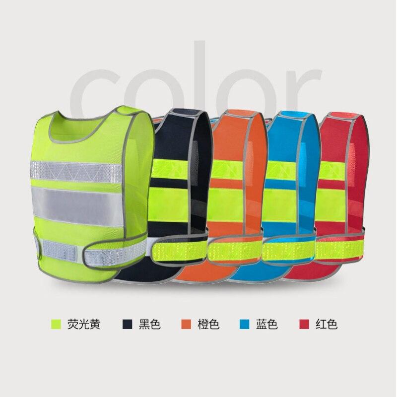 Reflektierende weste automobil jährliche bau prozess von fluoreszierende kleidung weste sicherheit schutz mantel