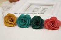 (200 개/갑) 수제 꽃 DIY 옷깃 꽃