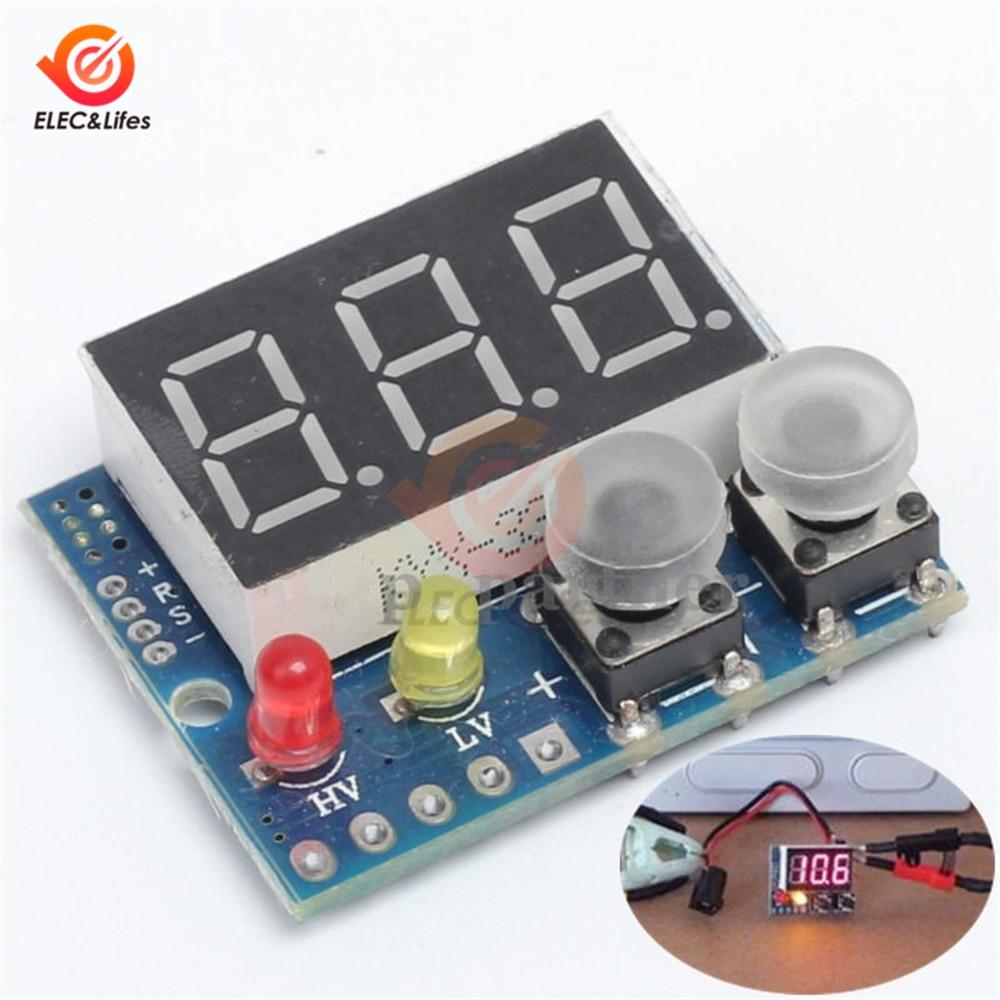 DC 0-99.9V LED Digital Display Voltmeter Meter Voltage Buzzer Alarm Lipo Voltage Led Indicator Tester For RC Car Battery Boat
