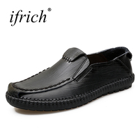 Slip on Leather Shoes Men Spring Summer Loafers Men Black Brown Designer Sneakers Anti slip Flat Shoes