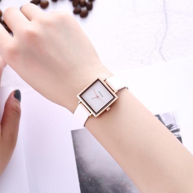 2018 יפה פשוט מזכרות יד גבירותיי שעוני יד עסקי אופנה נירוסטה טמפרמנט אופנתי נשים של שעון # D