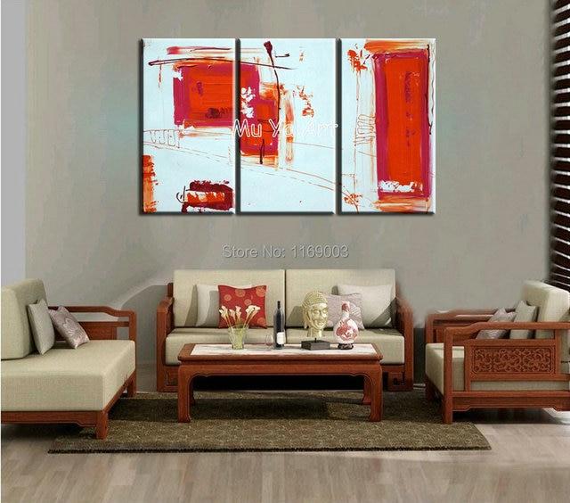 3 Stück Messer Malen Rot Weiß Abstrakte Leinwand Wand Art Dekorative  Handarbeit Ölbild Auf Leinwand Wohnzimmer