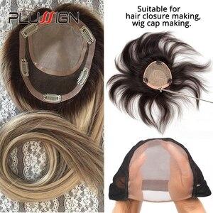 Image 5 - Plussign 5 10 stks/partij Kant Caps Voor Het Maken Pruiken En Haar Weven Stretch Verstelbare Pruik Cap Hot Black Dome cap Voor Pruik Haar Netto