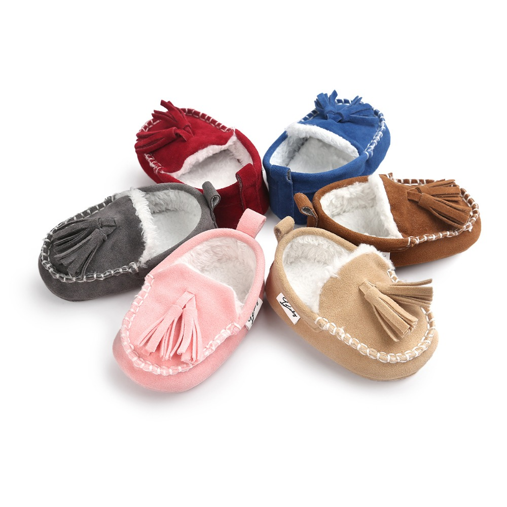 Winter PU Suede Leather Infant Toddler shoes Newborn First Walkers Fashion baby moccasins Super Warm Casual Baby Shoes Loafers