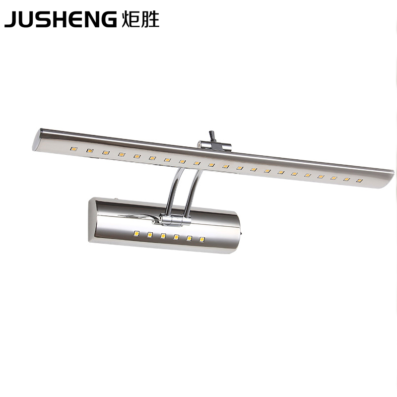 JUSHENG High Quality Bathroom Wall Lights 9W stainless steel LED Mirror Lamps 70cm long with Swing Arm Picture Lighting FixtureJUSHENG High Quality Bathroom Wall Lights 9W stainless steel LED Mirror Lamps 70cm long with Swing Arm Picture Lighting Fixture