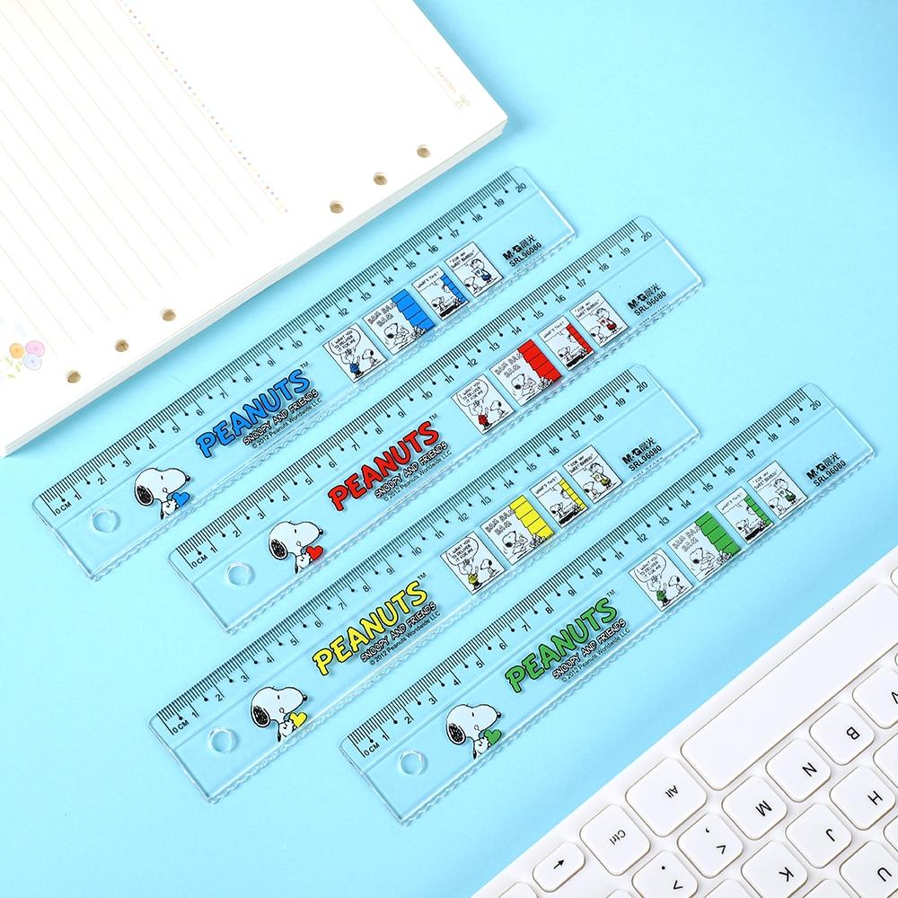 1PC Random 15cm 20cm  Classic Cute Cartoon Plastic Ruler Colour Modeling Student Ruler School Supplies Statoionery