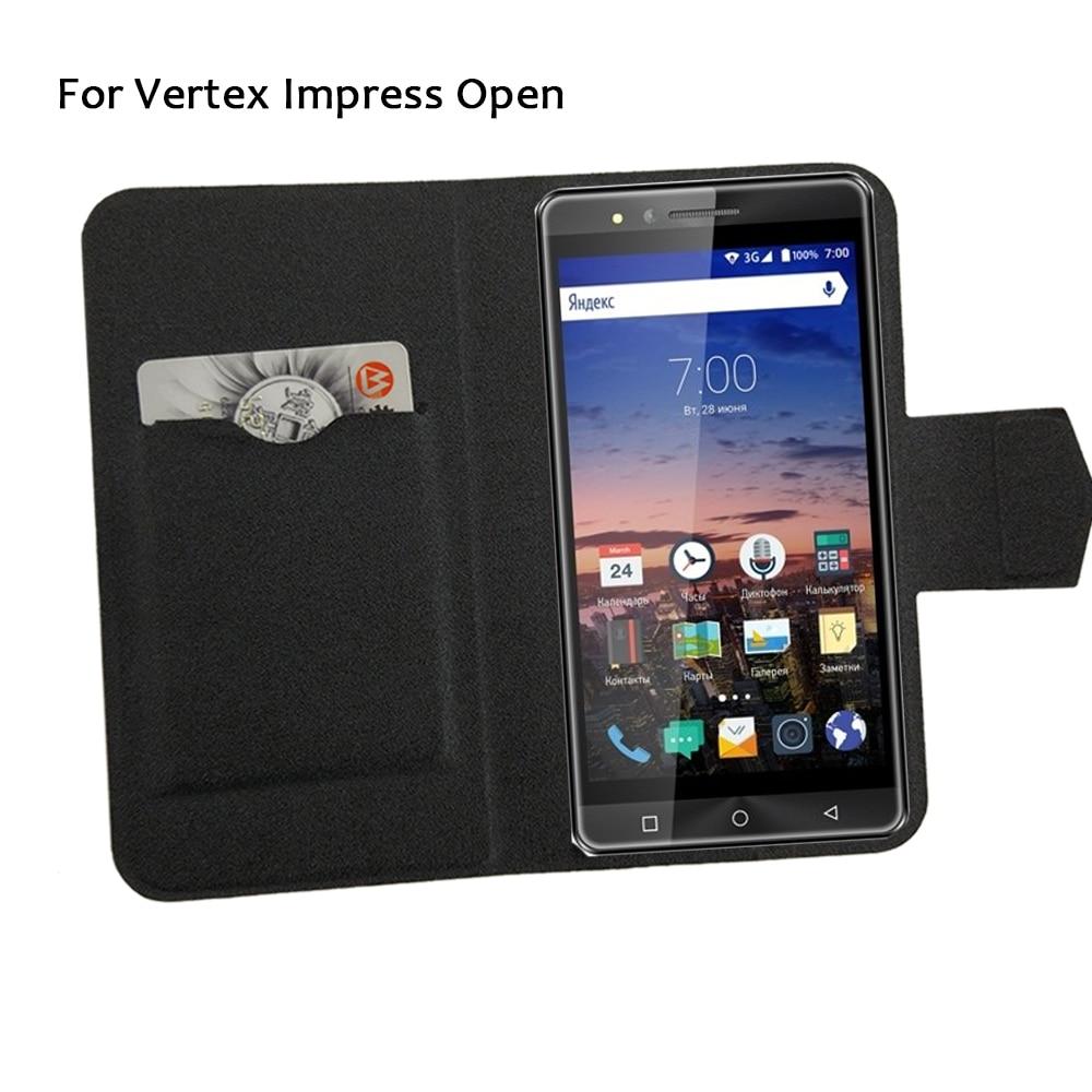 5 färger Super! Vertex Impress Open Phone Case Läderfodral, 2017 - Reservdelar och tillbehör för mobiltelefoner - Foto 1