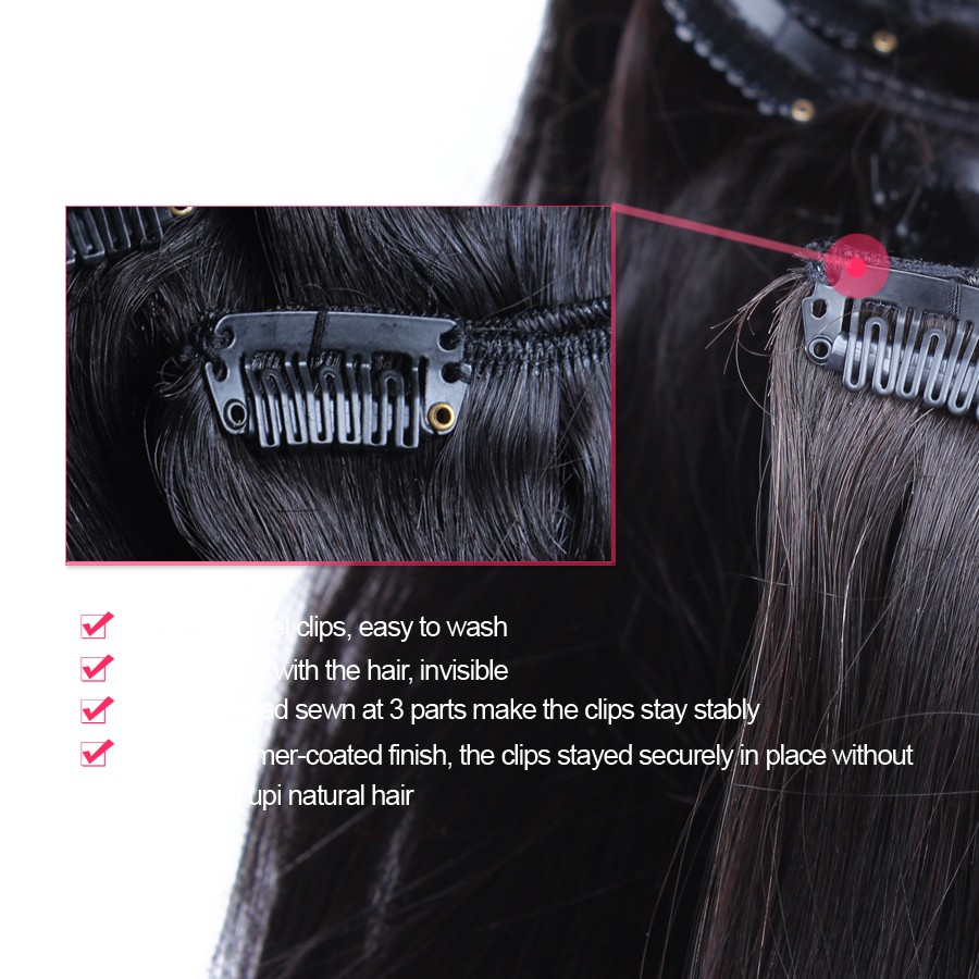 Straight-Clip-In-Human-Hair-Extensions-Peruvian-Straight-Virgin-Human-Hair-7pcs-set-120g-Double-Strong (2)