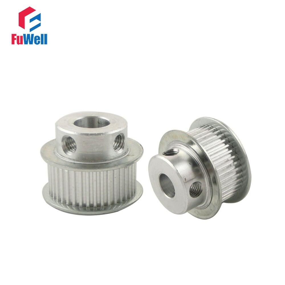 2 pièces MXL 40 T poulie de distribution 5/6/6.35/7/8/10/12/15mm alésage poulie de vitesse 2.032mm pas 11mm largeur en alliage d'aluminium poulies synchrones