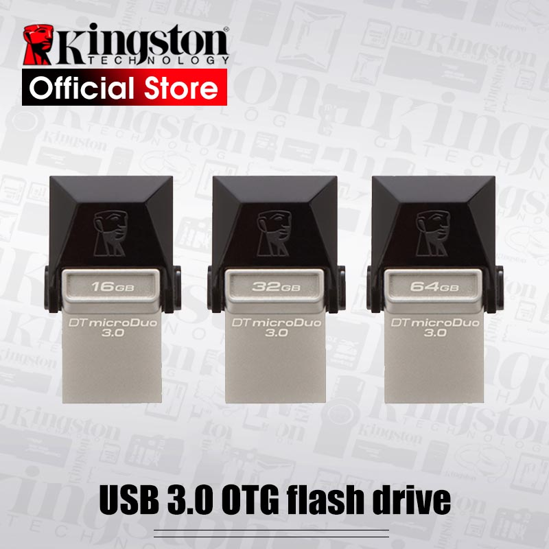 Kingston Mobile USB disk USB 3.0 DataTraveler microDuo 3.0 Flash Disk 16GB/32GB/64GB|flash disk|kingston usb 3.0kingston usb - AliExpress