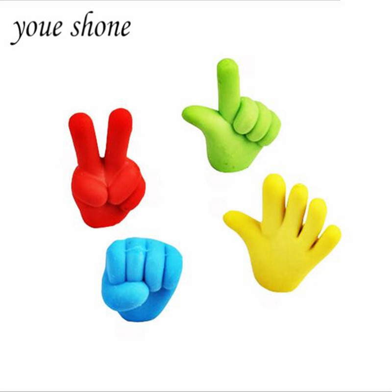 4pieces/lots Korean stationery wholesale cartoon 3D solid stone scissors cloth modeling rubber student supplies