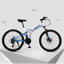 26 inch Mountain Bike Bicycle 21 24 27 Speed Double Shock Absorption Fast Folding One Wheel Ultralight Bikes cheap 21 Speed Steel Aluminum Alloy Unisex 0 1 m3 Spring Fork (Low Gear Non-damping) Double Disc Brake Soft-tail Frame Ordinary Pedal