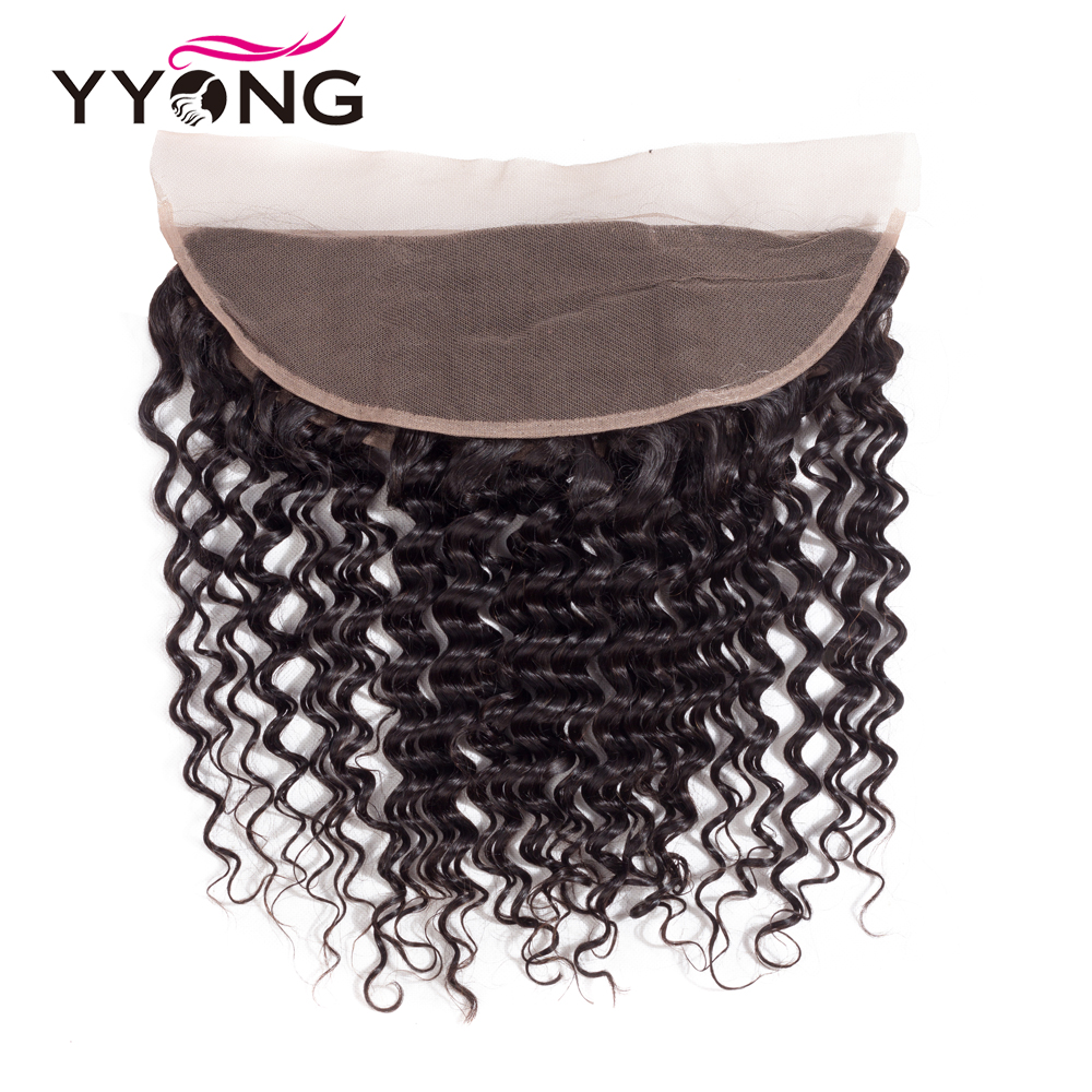 Yyong  Deep Wave  Lace Frontal Closure 13*4 Ear To Ear Free/Middle/Three Part Swiss Lace  Can Be Bleached 2