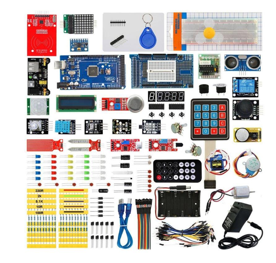 все цены на for Arduino MEGA 2560 Ultimate Starter Kits with MEGA 2560 R3 wholesale with box онлайн