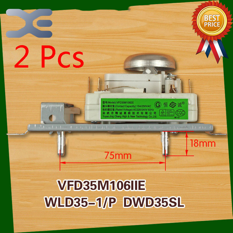 2Pcs Microwave Spare Parts Timer Oven VFD35M106IIE WLD35-1/P DWD35SL Microwave Oven Timer