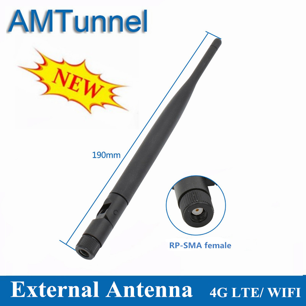 2.4GHz WLAN WiFi Antenna 700-2700MHz Modem Antenna 5dBi 4G LTE Whip Antenna RP-SMA Female  For Huawei TP-LINK ZTE Router Modem