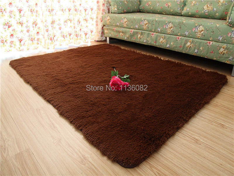 Many sizes 4.5cm thicken & SHAGGY super soft carpet floor area rug tapete slip-resistant door mat kids rug for living room