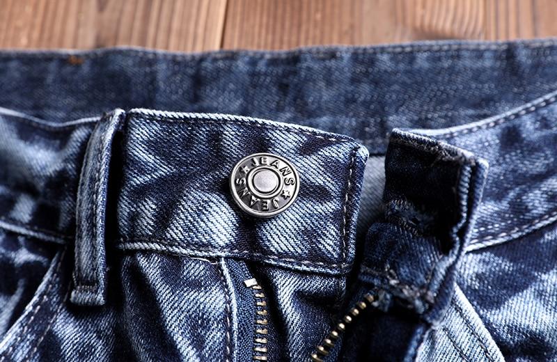 Jeans Men Male Jean Homme Mens Men'S Classic Fashions Pants Denim Biker Pant Slim Fit Baggy Straight Trousers Designer Ripped