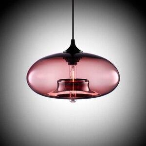 Image 3 - Neue Einfache Moderne Zeitgenössische hängende 6 Farbe Glas ball Anhänger Lampe Lichter Leuchten e27 für Küche Restaurant Cafe Bar