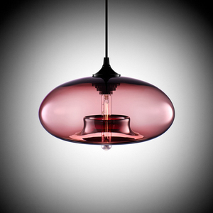 Image 3 - New Simple Modern Contemporary hanging 6 Color Glass ball Pendant Lamp Lights Fixtures e27 for Kitchen Restaurant Cafe Bar