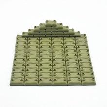 ロックブロック10ピース/セット軍事moc土嚢WW2セット販売のビルディングブロックのおもちゃ子供組み立てる軍swatブロックおもちゃ