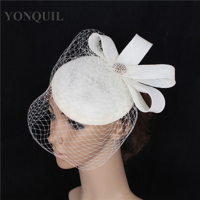 Elegant wedding women ladies fascinator hat base birdcage veils cap  Occasion DIY hair headdress decoration attractive millinery 4cde899ab325