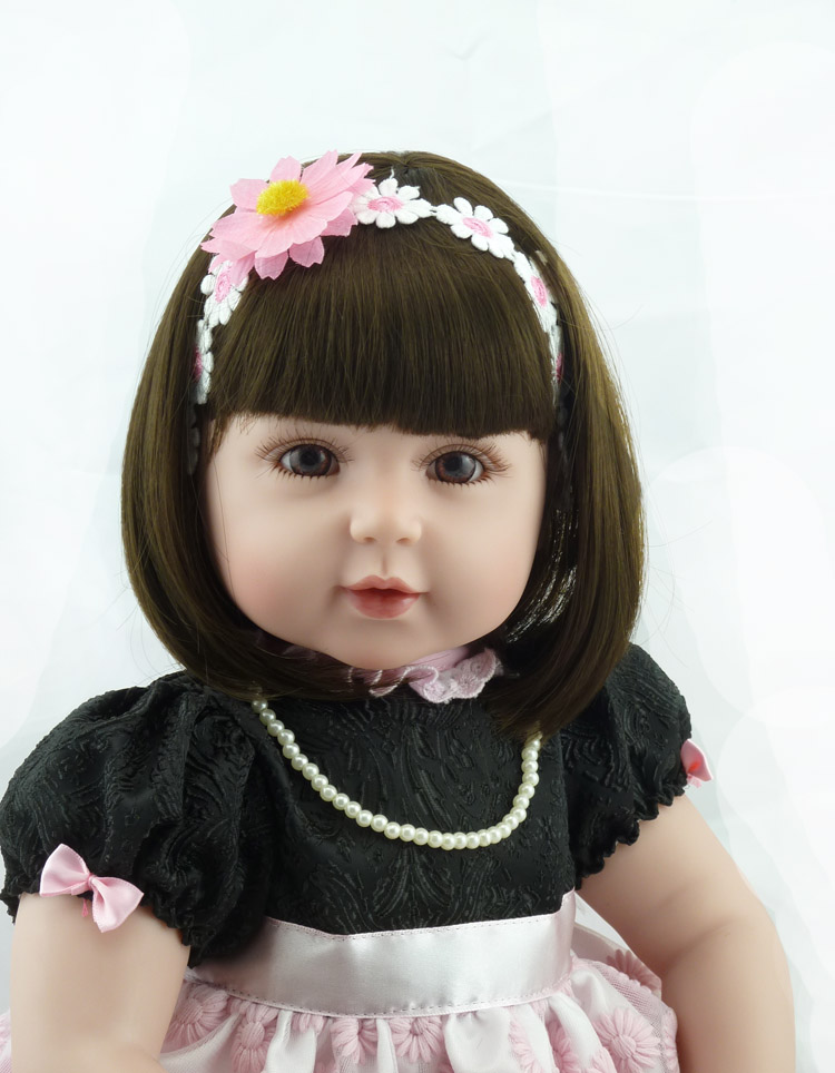 22inch Truly Real Soft Vinyl Baby Alive Dolls Lifelike Princess Girl Silicone Reborn Baby Dolls Handmade Doll Toy Christmas Gift22inch Truly Real Soft Vinyl Baby Alive Dolls Lifelike Princess Girl Silicone Reborn Baby Dolls Handmade Doll Toy Christmas Gift