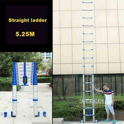 5,25 м алюминиевый сплав плотные односторонняя Прямая Лестница JJS511 Портативный Бытовая Лестница 15-шаг Инженерная лестница