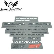 SuTong 3D отличный гладкий глянцевый металлический значок STI эмблема наклейка для Subaru STI WRX BRZ аксессуары для стайлинга автомобилей