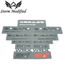 SuTong New 3D Excellent Smooth Glossy Metal Badge STI Emblem Sticker for Subaru WRX BRZ Car Styling Accessories