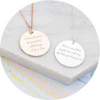 Personalized Message Necklace Stainless Steel Initial Birthstone Disc Pendant Necklace Women Dainty Jewelry Mother's Day Gift