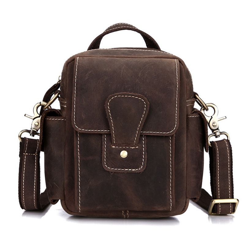 New Men Vintage Crazy horse Genuine leather handBag business messenger bag shoulder handBags bag new men vintage crazy horse genuine leather handbag business messenger bag shoulder handbags bag