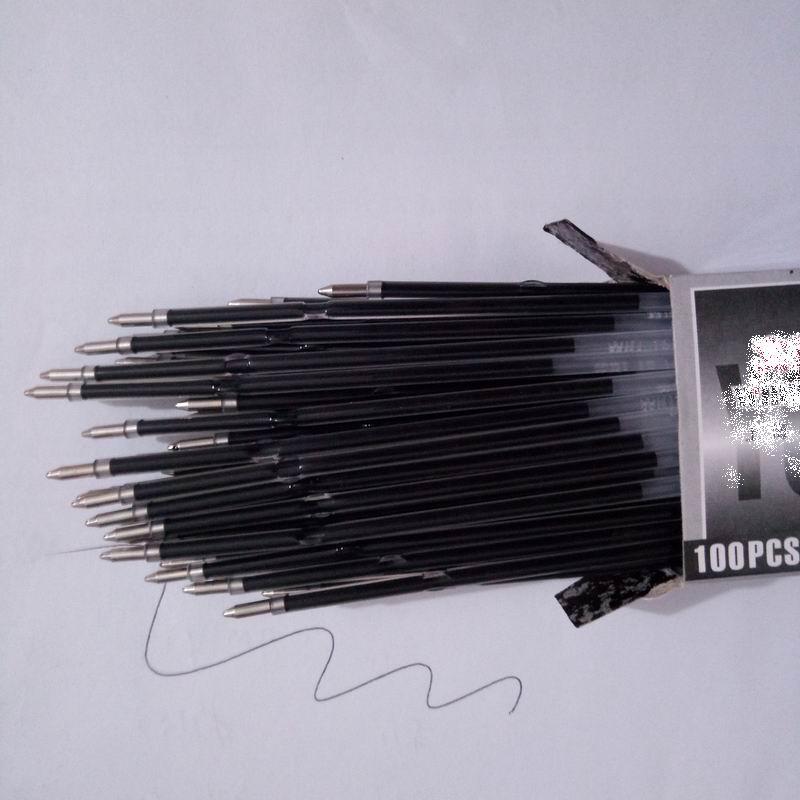 5000 pcs 0 7mm 107mm Waterproof Auto Roller Ball Ballpoint Pen Stander Refill Lead Black Blue