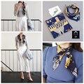 Calidad superior de la Señora Rayón Bufanda Impresa Bufandas Bufanda de Seda Pequeña Cinta Twilly Banda Para El Cabello Cintas para el Pelo Collar de Decoración Para Las Mujeres