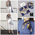 Top Quality Lady Rayon Twilly Scarf Printed Scarves Silk Scarf Small Ribbon Hair Band Headbands Necklace Decoration For Women