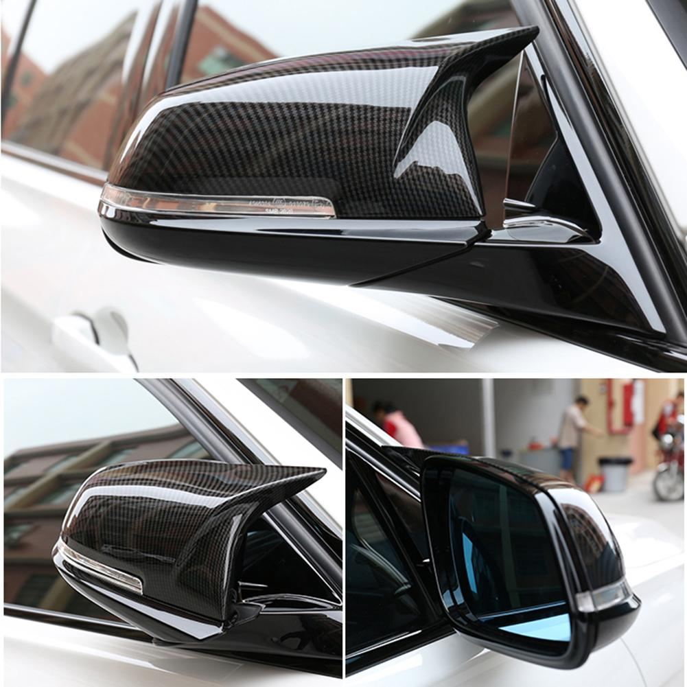 1 пара углерода оптимизировать узор заднего вида левой и правой зеркало Корпус автомобильные аксессуары для BMW 5 серии F10 F18 2014- 2016 лет