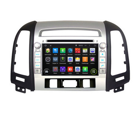 FREE GIFTS Quad Core Android 5.1.1 Car DVD For HYUNDAI SANTA FE 2006 2007 2008 – 2012 With Mirror Link16GB Flash Wifi BT Map GPS