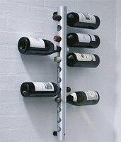 شحن مجاني جديد 8 ثقوب العمودي رفوف حامل معدن زجاجة النبيذ الرف النبيذ مبردات دلاء برواري ، 8 ثقوب