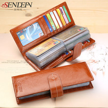 SENDEFN fashion 57 cards position of credit card holders of the card of large capacity women wallet long bag identification car