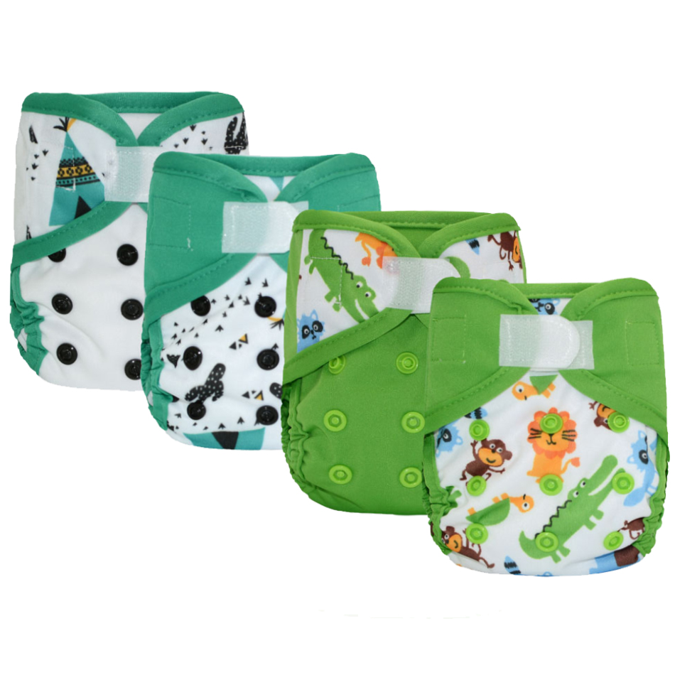 Image 4 - Miababy(4pcs/lot) Newborn  Cloth Diaper Cover, Fit Baby 3 5kg or 0 3 months.-in Baby Nappies from Mother & Kids