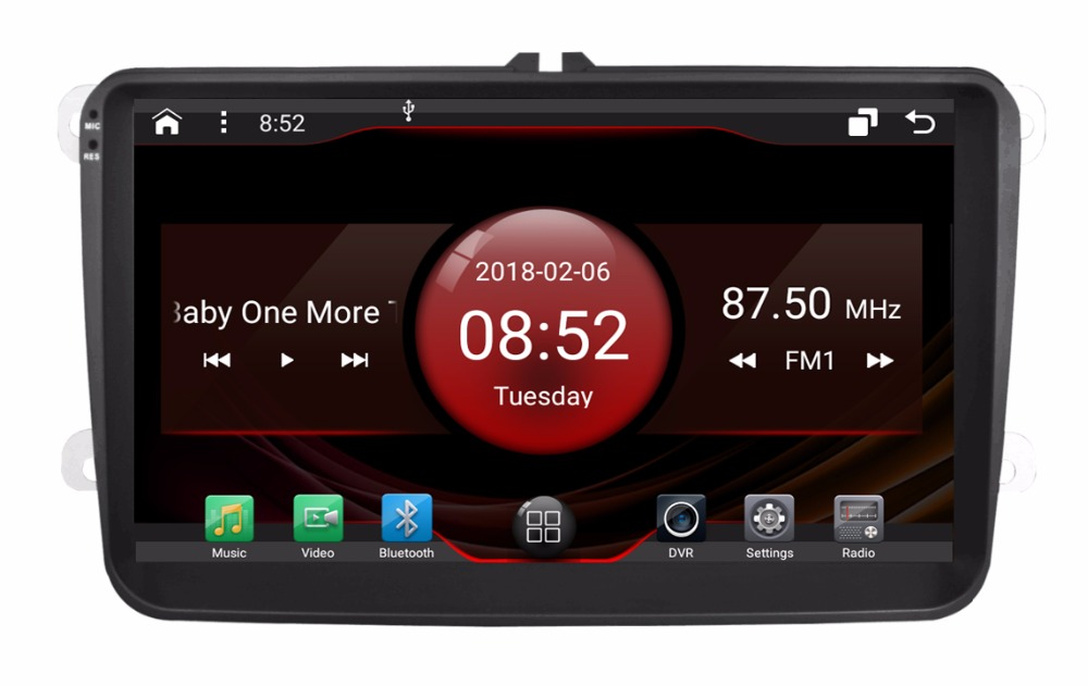 2GB RAM octa core Android 7 1 2 car font b GPS b font for VW