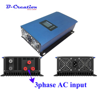 2000W Wind Power Grid Tie Inverter with Dump Load Resistor 45 90V 3phase ac to 220V AC MPPT Pure Sine Wave Grid Tie Inverter