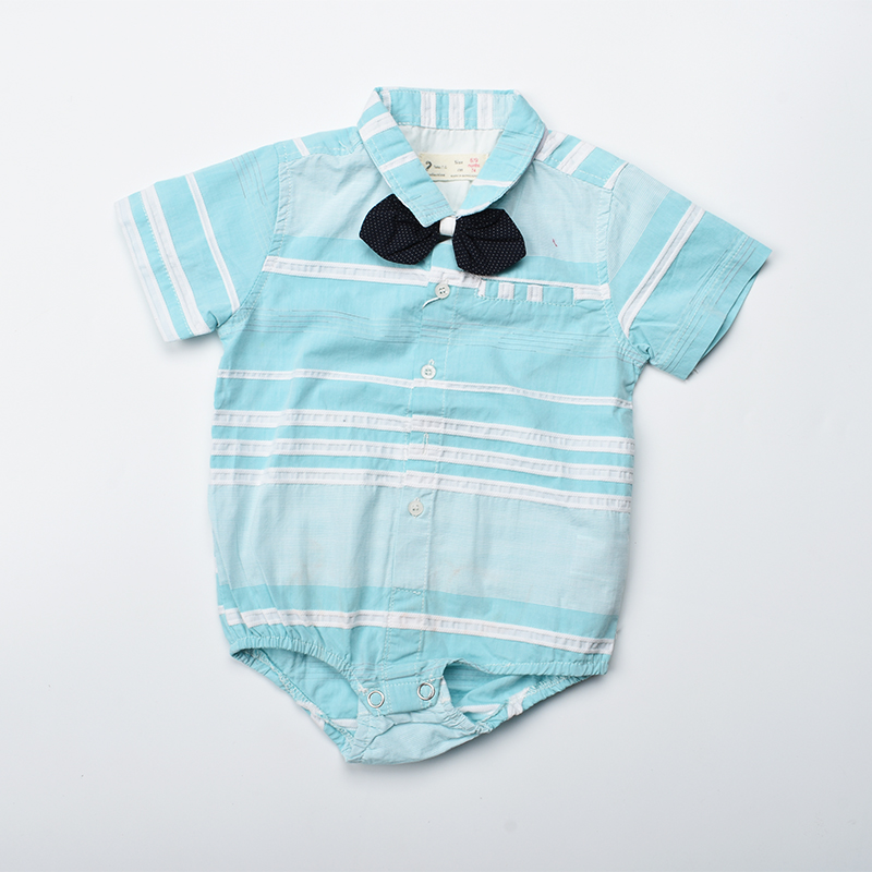 Baby boy romper 2018 summer baby clothes with bow short sleeve jumpsuit baby onesie formal shirt for newborn photography props